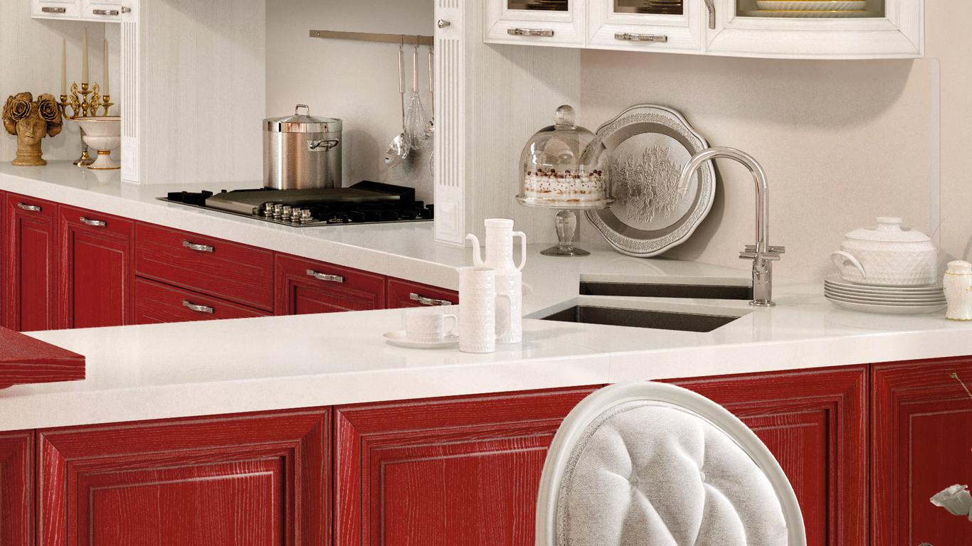 Scegliere il top cucina in marmo - Showroom cucine Creo a Milano