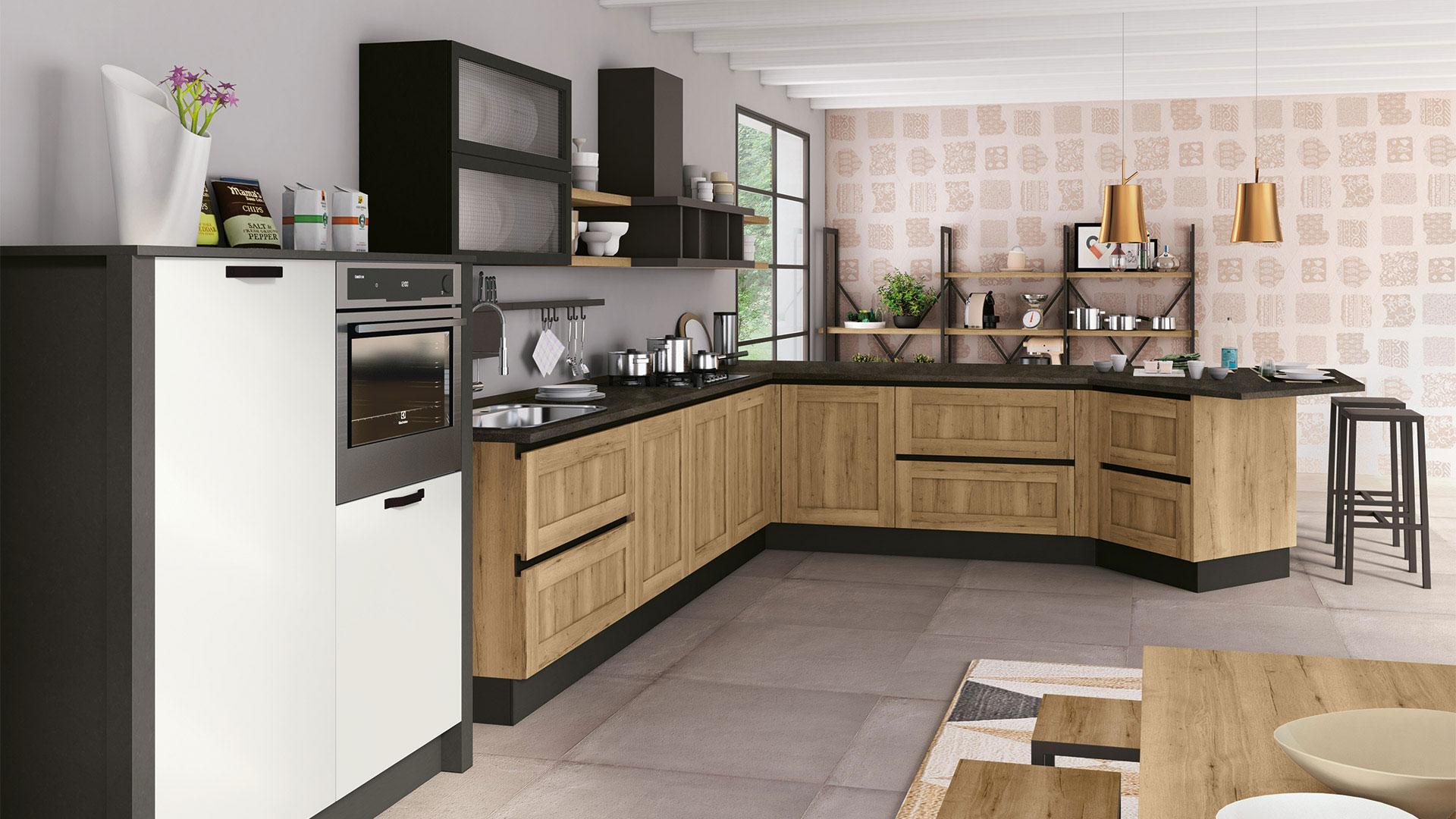 Cucina Bianca E Nera cucina nera, gli abbinamenti proposti da creo store milano